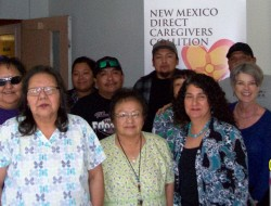 Health and Safety for Caregivers training class in Mescalero, NM