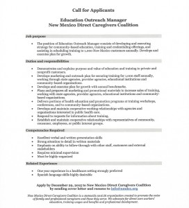 Education Outreach Manager